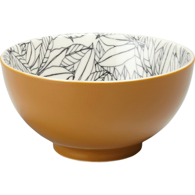 Coupelle en porcelaine beige nèfle motifs laurier D11cm-AIX