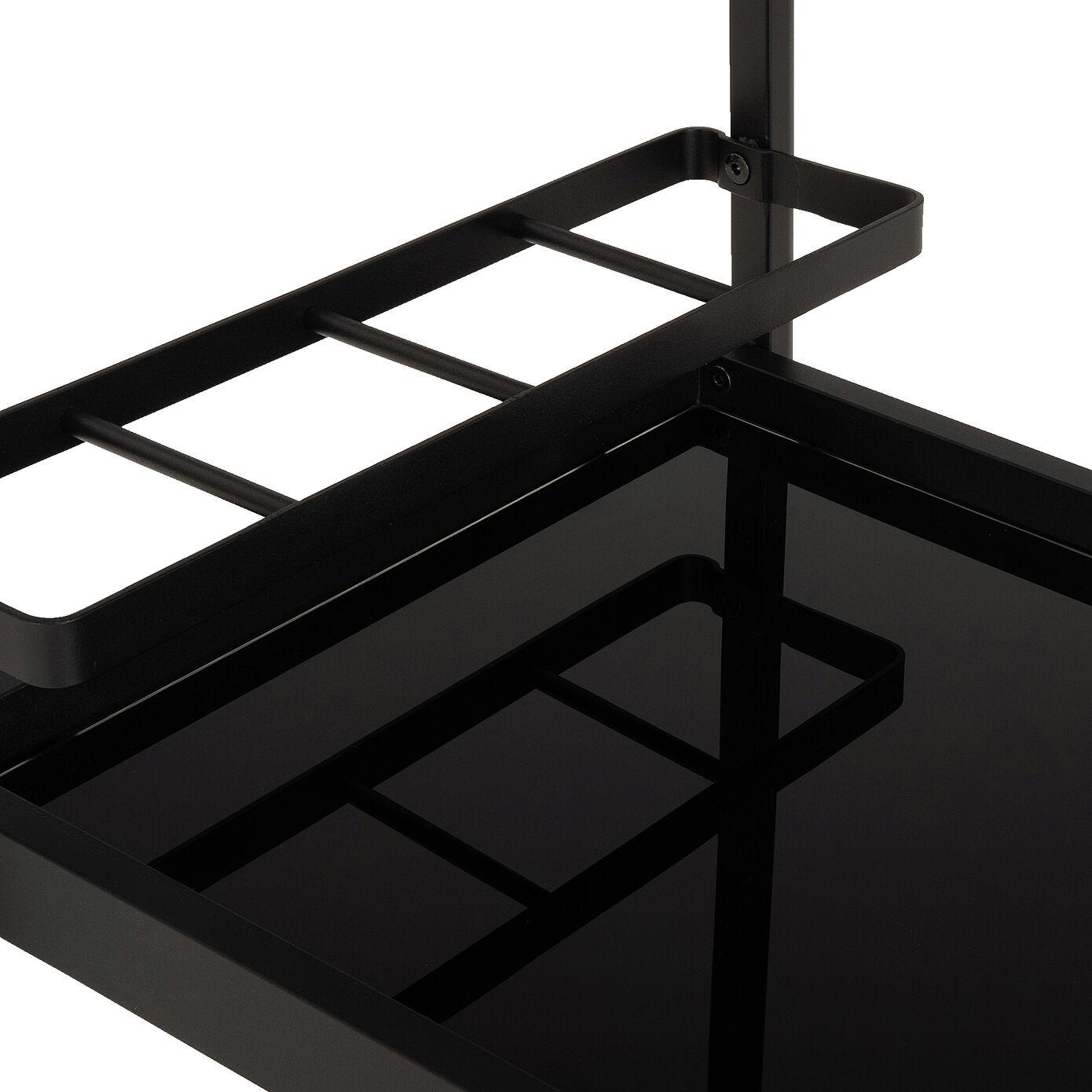 Desserte de cuisine en aluminium - noir-NATACHA