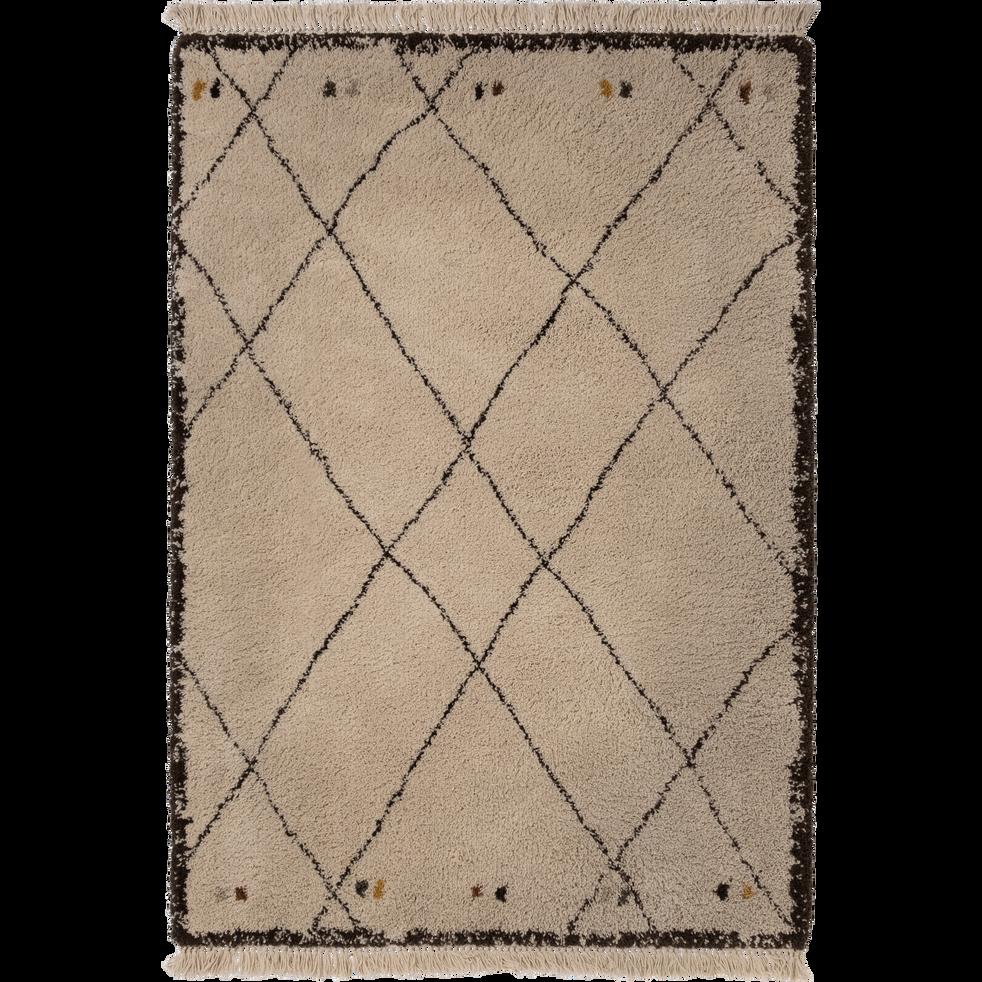 tapis franges esprit berb re 160x230cm aramon 160x230 cm grands tapis de salon alinea. Black Bedroom Furniture Sets. Home Design Ideas