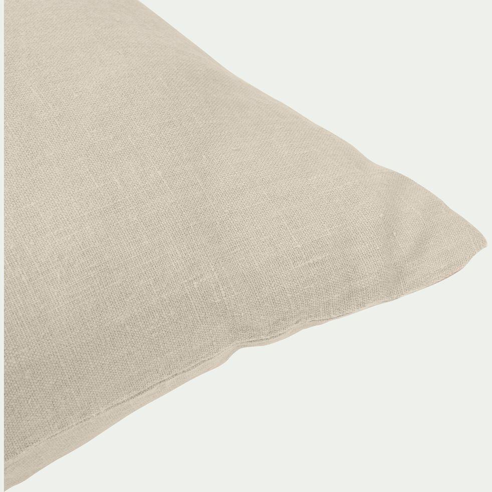 Coussin en lin lavé - beige roucas 45x45cm-VENCE