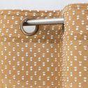 Voilage à œillets en coton plumetis - jaune moutarde 140x250cm-SUEZ