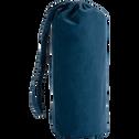 Drap housse en coton lavé bleu figuerolles 90x170 cm-CALANQUES