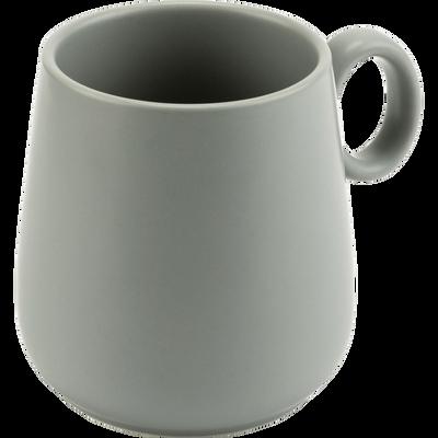 Mug en porcelaine vert olivier avec anse-OSAKA