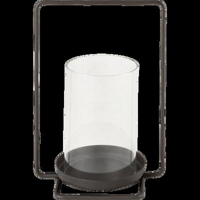 Lanterne en métal gris anthracite H25xD17cm-Embrun
