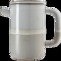 Théière en grès blanc 42cl-GOYAV