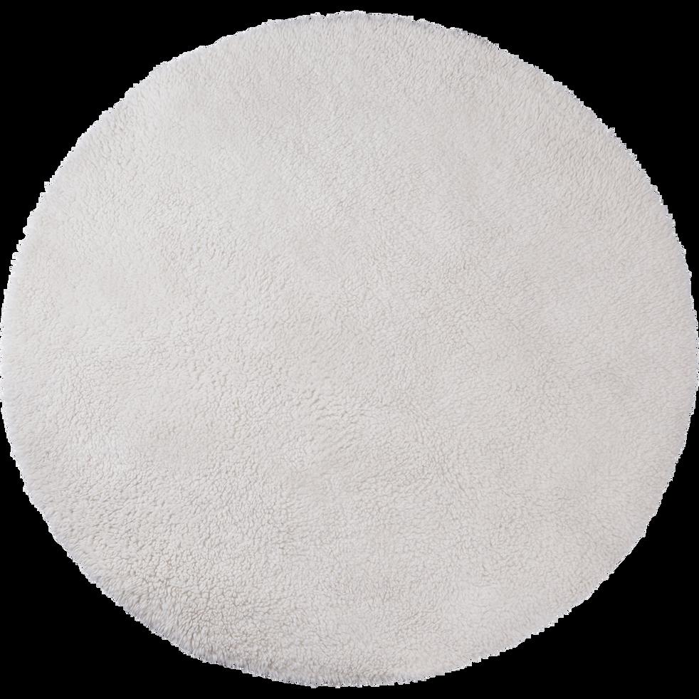 tapis sherpa rond uni d120cm blanc ventoux aurore tapis ronds alinea. Black Bedroom Furniture Sets. Home Design Ideas