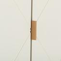 Buffet 2 portes papillons plaqué chêne et blanc-EGNA