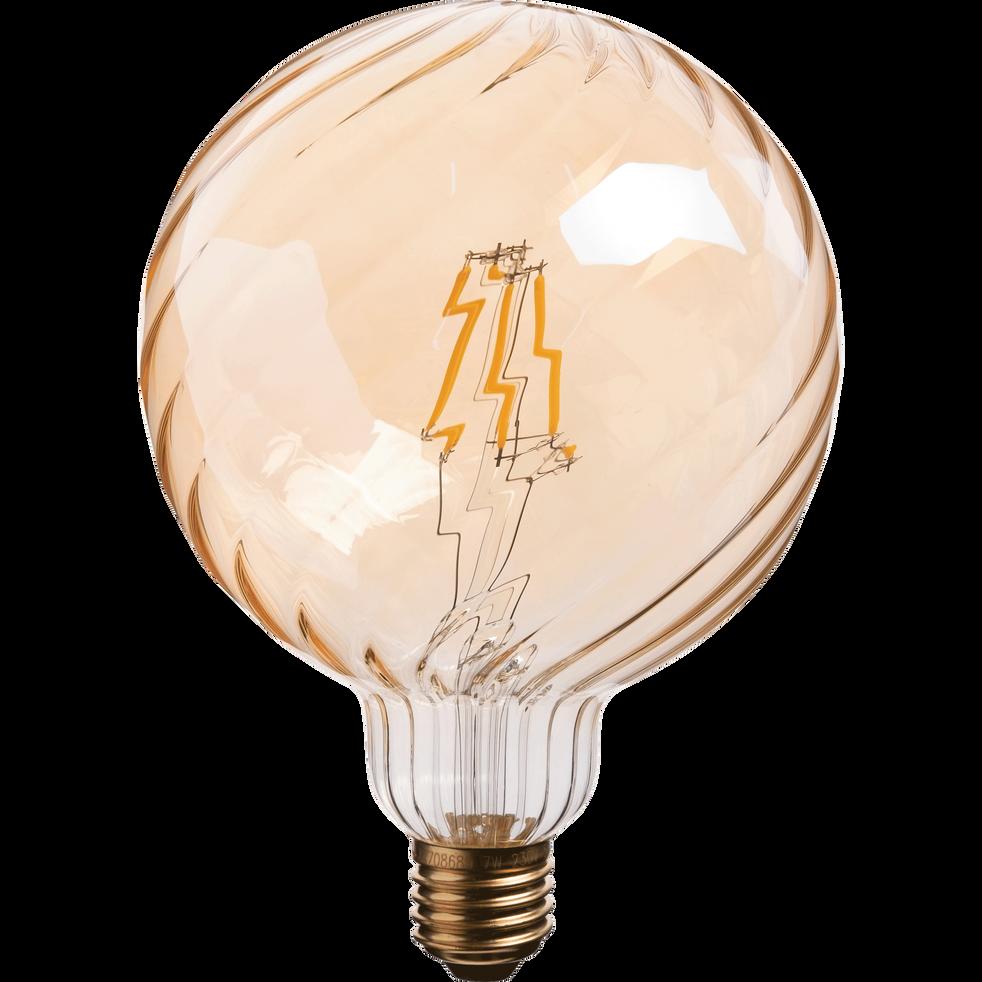 Ampoule décorative LED D12,5cm blanc chaud culot E27-STRIPPED