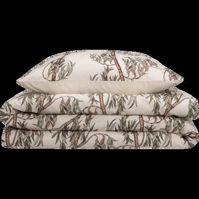 Housse de couette en coton motifs Saule  240x220 et 2 taies d'oreillers-SAULE