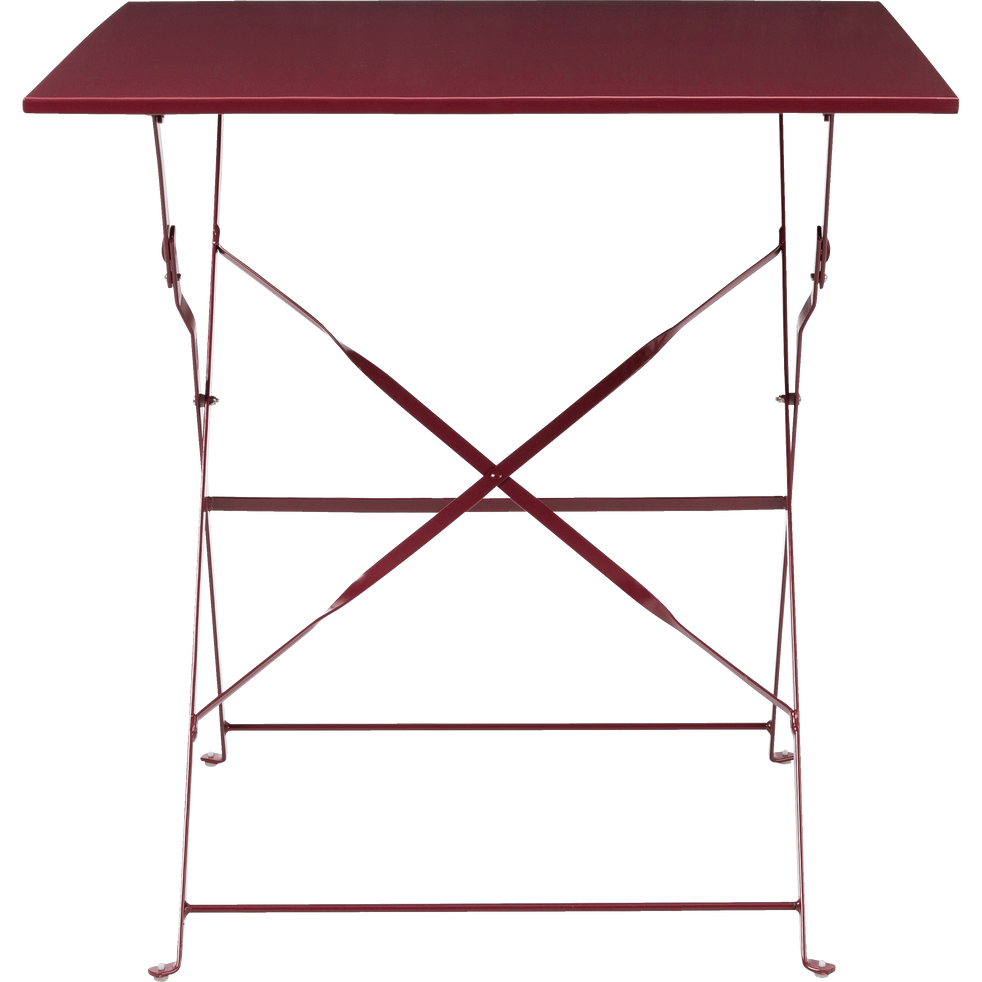Table de jardin pliante rouge sumac (2 places) - CERVIONE - jardin ...