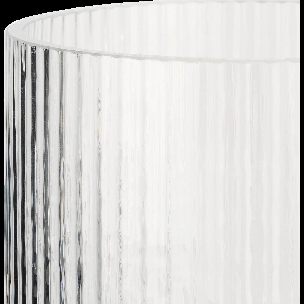 Vase en verre transparent H15cm-LITHAQUE