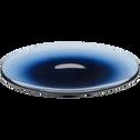 Assiette à dessert en verre bleu D21cm-AURORE