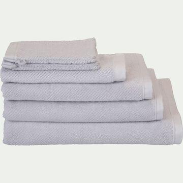 Linge de toilette bouclette en coton bio -gris borie-COLINE