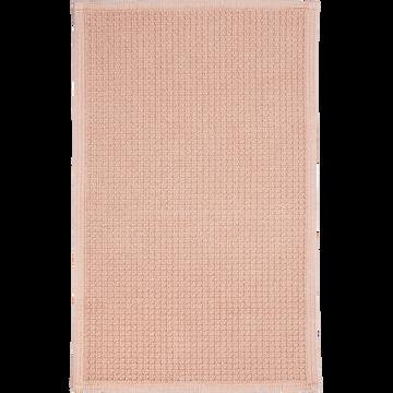 Tapis de bain 50x70cm rose argile-ESCAPADE