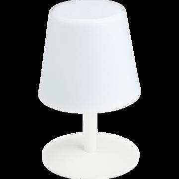Lampe de table nomade avec pied en métal blanc H26cm-MUGEL