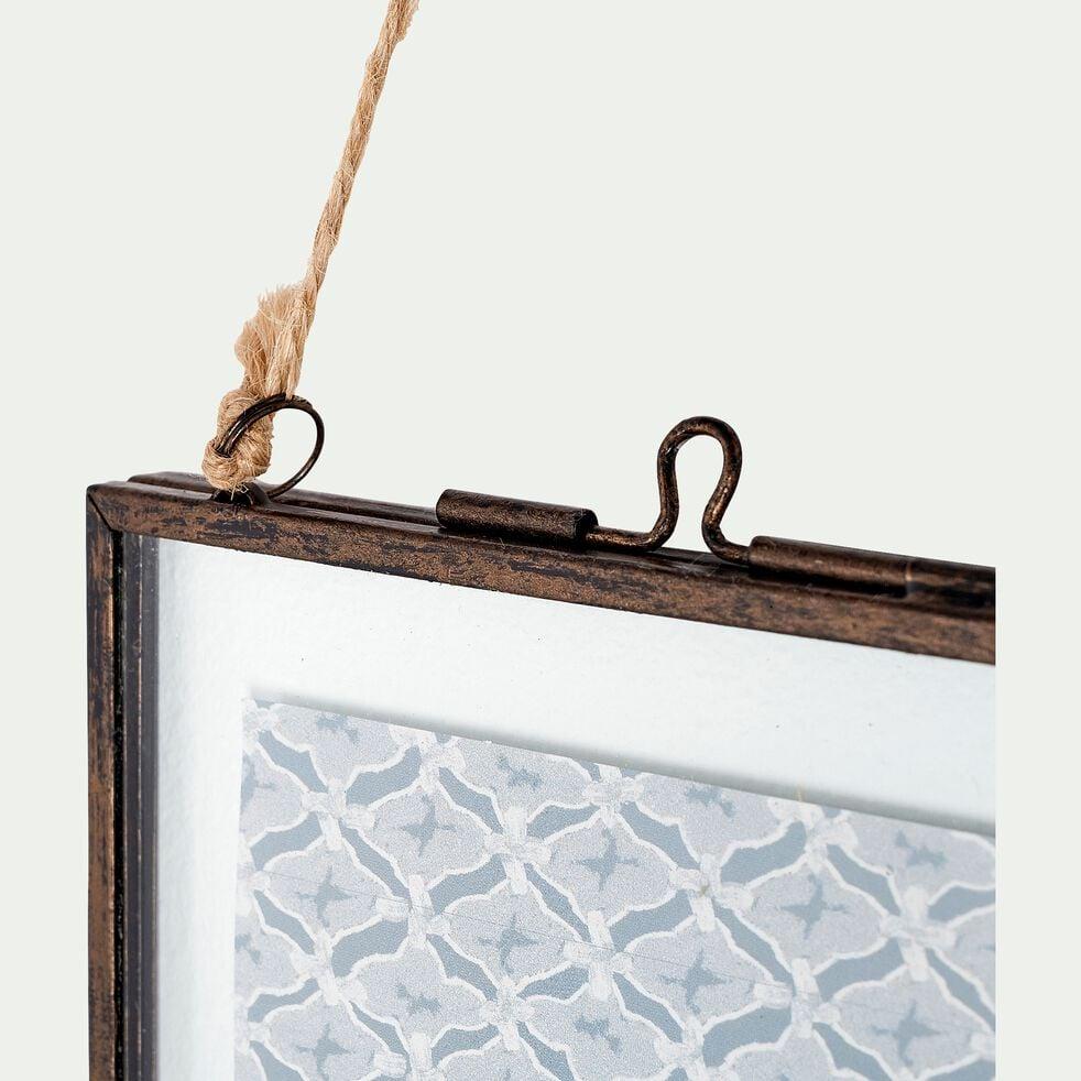 Cadre en fer effet rouillé - noir 14x19,5cm-CORTO