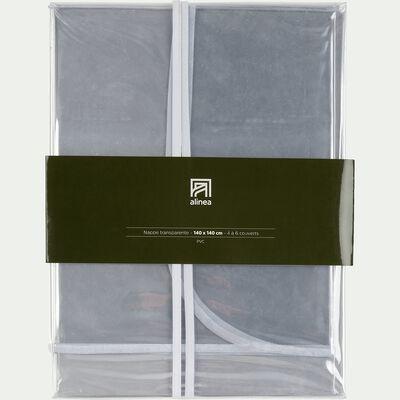 Nappe en plastique transparente 140x250cm-CLAUDIUS