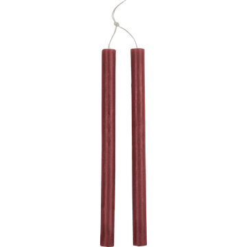 Bougie duo de flambeaux rouge sumac D2xH30cm-BEJAIA
