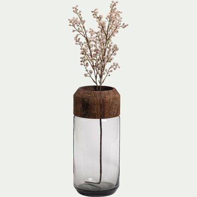 Vase en verre - D14xH32cm marron-RUMENZU