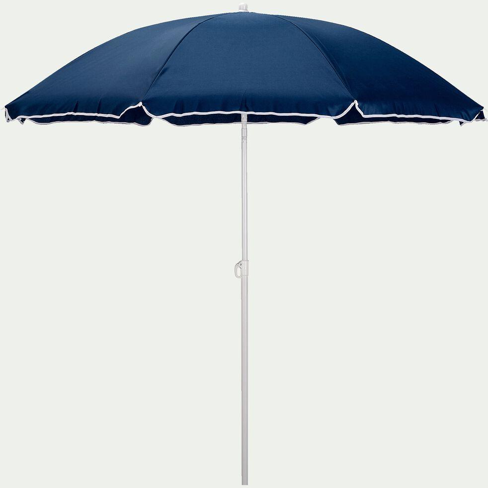 Parasol de plage - bleu figuerolles (D180cm)-GASSIN