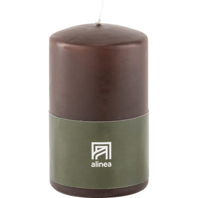 Bougie cylindrique brun ombre-HALBA