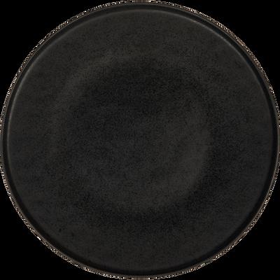 Assiette plate en grès noir D27,5cm-COPA