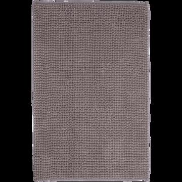 Tapis de bain polyester 50x80cm gris restanque-PICUS