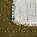Plaid chambray en double gaze de coton - vert et jaune 130x170cm-QENA