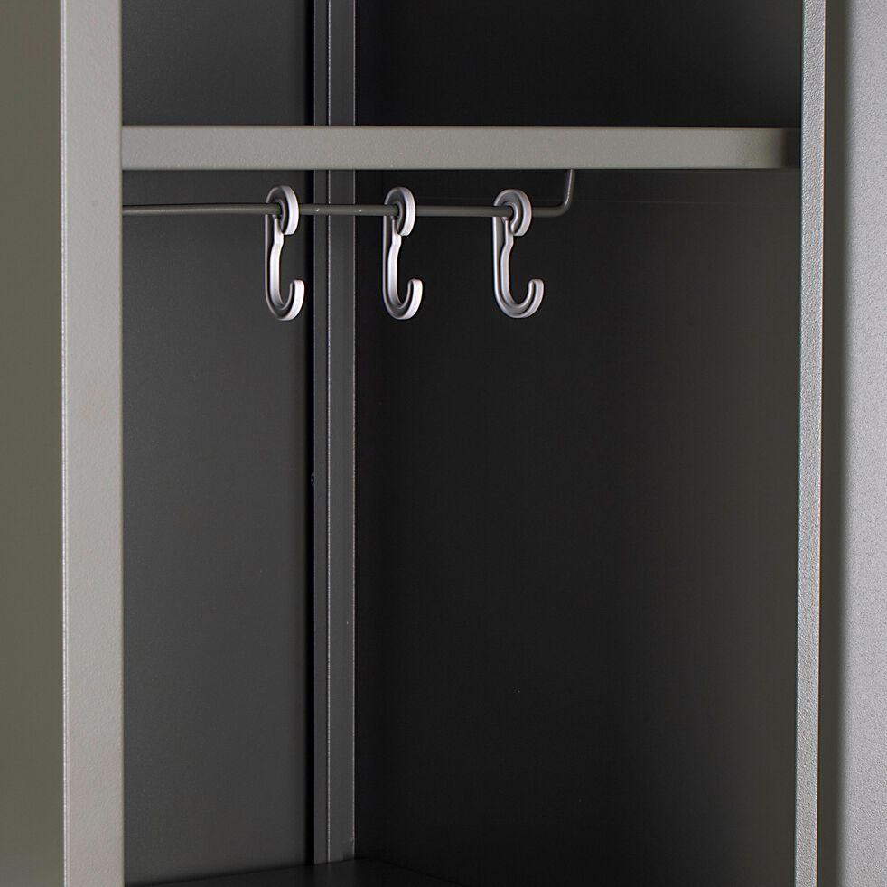 Armoire 1 porte en métal - H200xl50xP47,50 cm vert cèdre-LOFTER