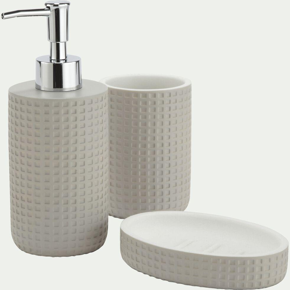Distributeur de savon en polyrésine - gris borie H18cm-LOUBET