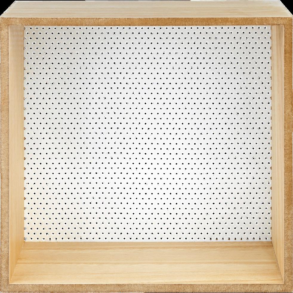 Étagère murale en fibre et métal blanche-BRAD