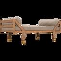 Banquette en manguier et lin beige roucas L160cm-ANCE