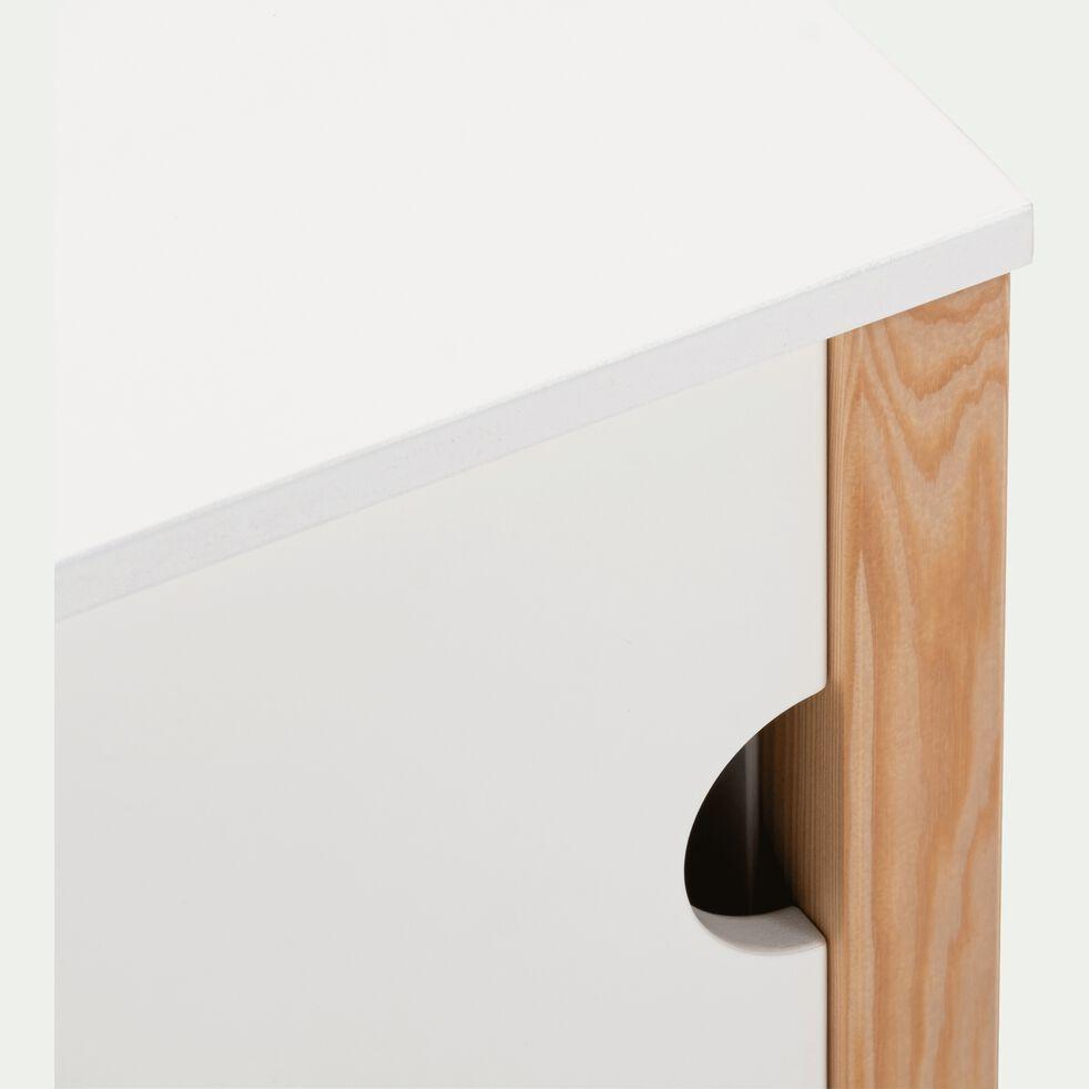 Rangement bout de lit en bois - blanc-ALOUETTE
