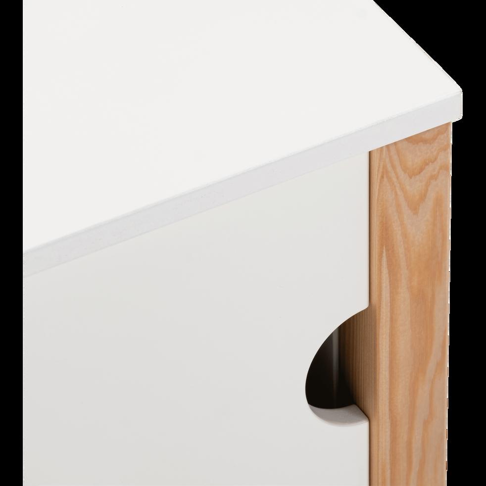 Rangement bout de lit en pin massif blanc-ALOUETTE