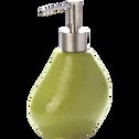 Distributeur de savon vert mate en céramique-Jarro