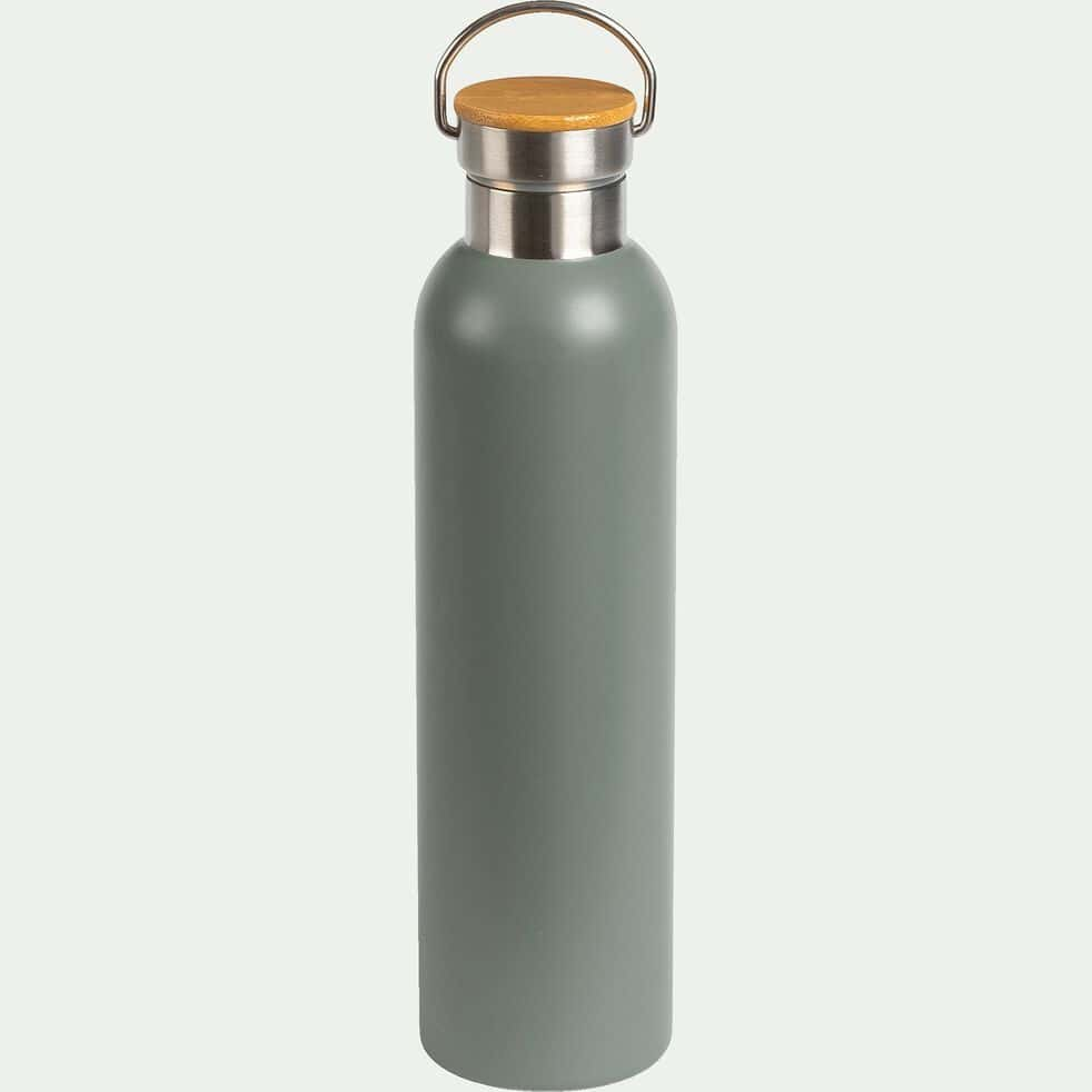 Bouteille en inox - vert cèdre - 1L-Coucourdo