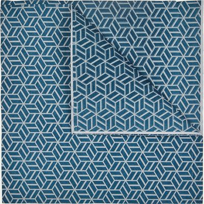 Lot de 20 serviettes en intissé bleu-CUBE