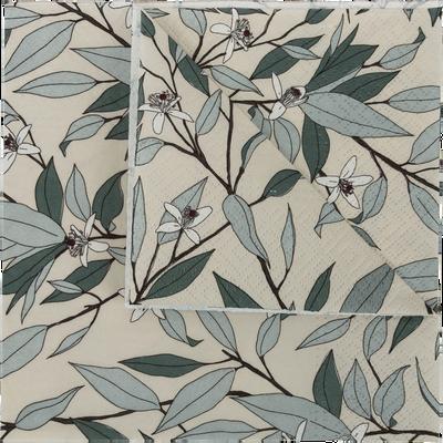 Lot de 20 serviettes en papier à motif fleur d'oranger 33x33cm-SAZE