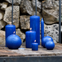4 bougies votives bleu myrte-HALBA