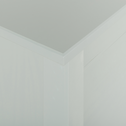 Commode avec structure et façade en pin massif 2x3 tiroirs vert olivier-LISON