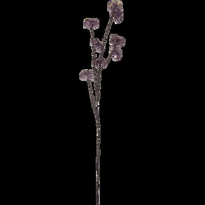 Branche artificielle violette H80cm-CHARDON