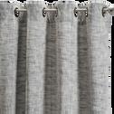 Rideau à œillets en coton bleu 140x250cm-MANAUS