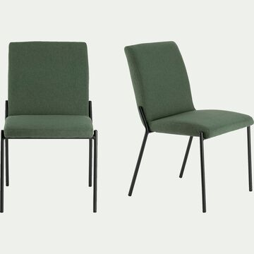 chaise en tissu vert - cèdre-JASPE