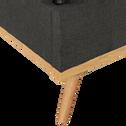 Lit-coffre recouvert de tissu 140x200cm-LUNA