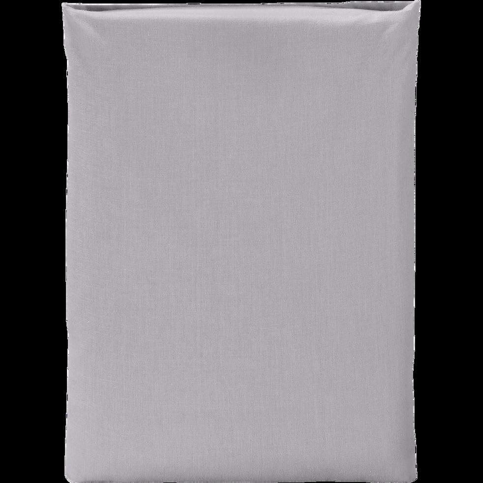 Drap plat en coton Gris restanque 180x300cm-CALANQUES