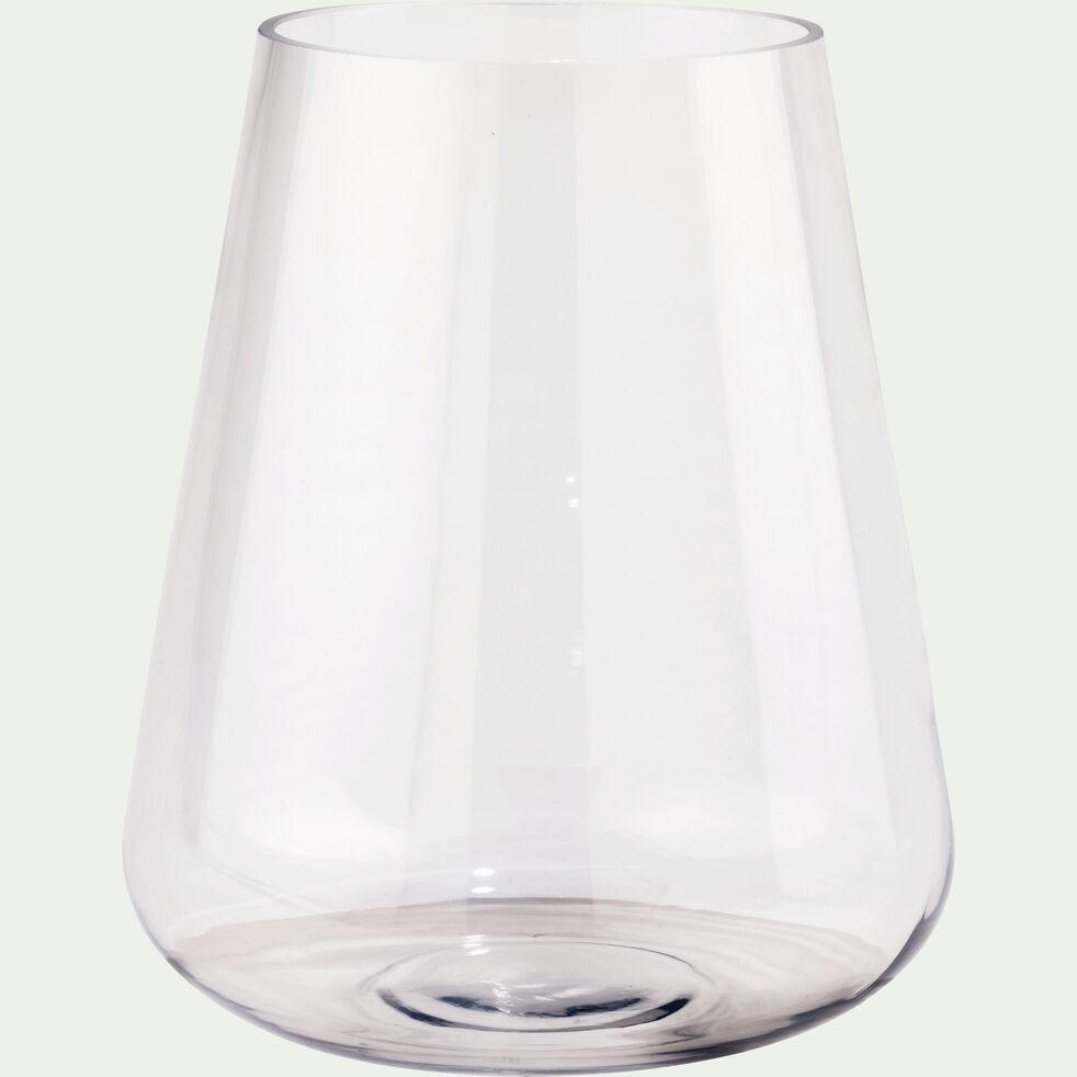 Vase obus en verre - transparent H23cm-BALAN