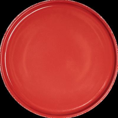 Assiette plate en faïence rouge arbouse D27cm-VADIM