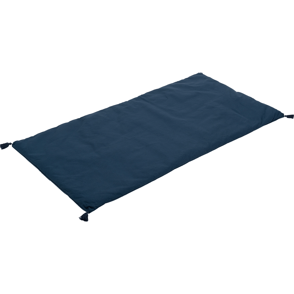 Coussin d'assise pour banc bleu figuerolles 70x140cm-MATIS