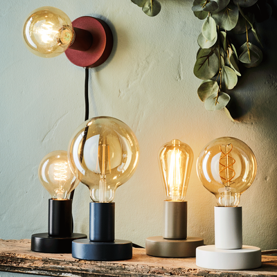 Lampe applique en métal noir D10xH9cm-ODERA