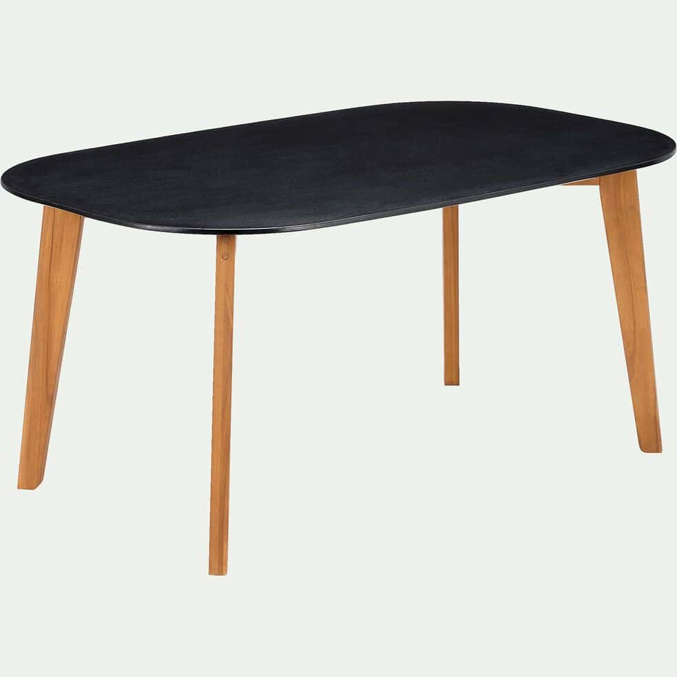 Table de jardin en granit - noir (6 places)-ZEPPLIN